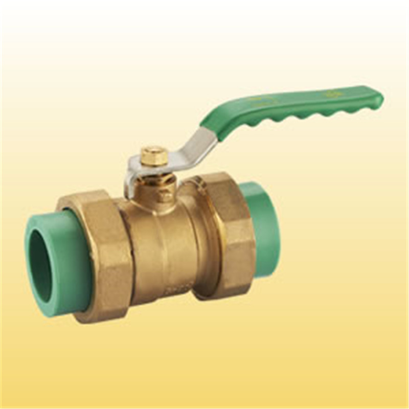 Brass Colour  40 mm Water PPR Ball Valve